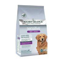 Arden Grange Sensitive Senior/Light Grain free – с бяла риба и картоф -за Пораснали кучета (1 година +), които са с наднормено тегло – 12 кг