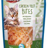 Лакомство  Trixie за котки пилешки филенца 50гр.