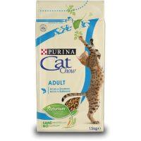 Суха храна за котки Cat Chow Adult сьомга и риба тон – 15 kg