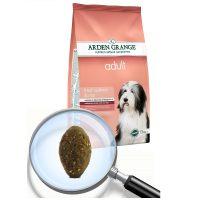 Arden Grange Adult Salmon & Rice – със сьомга и ориз -суха храна за Възрастни кучета от всички породи, които изискват диета за поддържане на оптимално състояние на кожата/козината – 12 кг