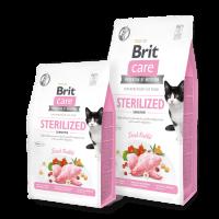 Brit Care Cat Grain-Free STERILIZED SENSITIVE -Суха храна със заешко за кастрирани котки – 0,4 кг