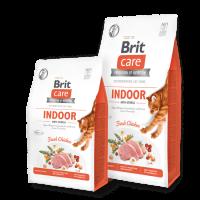 Brit Care Cat Grain-Free INDOOR ANTI-STRESS -суха храна с пилешко за котки живеещи в затворени пространства -0,4 кг