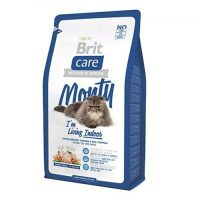 Суха храна за котки , живеещи в затворени пространства- Brit Care Indoor Monty  с прясно пилешко и пуешко месо – 0,4 кг