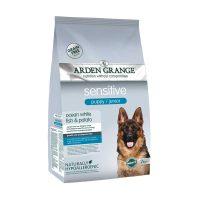 Arden Grange Sensitive Puppy Grain free – с бяла риба и картоф – суха храна за Кученца на възраст 8 седмици и повече, които изискват чувствителна диета и бремени кучки – 12 кг