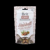 Brit Care Cat Snack Hairball  -Функционална закуска без зърно за профилактика на космената топка -50 гр