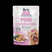 Brit Care Mini Chicken & Tuna fillets in gravy – пауч за кучета от малките породи с пилешко и риба тон