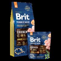 Brit Premium by Nature Junior S – ЗА МЛАДИ КУЧЕТА (1-12 МЕСЕЦА) НА МАЛКИ ПОРОДИ (1-10KG). ПОДХОДЯЩА ЗА БРЕМЕННИ И КЪРМЕЩИ КУЧКИ.  -1 кг