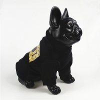 Суитчър за кучета или котки размер S, черен цвят, принт