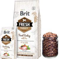 Холистична суха храна Brit Fresh Turkey with Pea Adult Fit & Slim за кучета склонни към наднормено тегло, с прясно пуешко месо и грах 12 кг