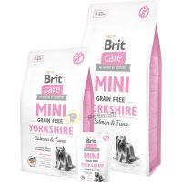 Пълноценна суха храна Brit Care Mini Grain Free Yorkshire със сьомга и риба тон, за кучета от порода йоркширски териер 7 кг