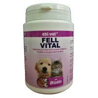 Ebi-Vet Fell Vital – хранителна добавка при кожни заболявания, пърхут, сърбеж, косопад 300табл