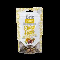 Brit Care Cat Snack Shiny Hair -Функционална закуска без зърна за копринено палто и здрава кожа -50 гр