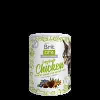 Brit Care Cat Snack Superfruits Chicken-ПИЛЕ, МОРСКИ ЗЪРНАСТЕЦ, БОРОВИНКИ. ДОПЪЛНИТЕЛНА ХРАНА ЗА КОТКИ-100 гр