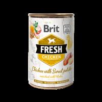 Brit Fresh Chicken with Sweet Potato – консерва за кучета 48% пиле, 28% пуйка-400 гр