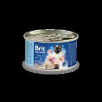 Brit Premium by Nature Trout with Liver – Деликатен местен пастет за възрастни котки -200 гр
