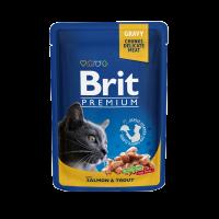 Brit Premium Cat Pouches with Salmon & Trout – СЪС СЬОМГА И ПЪСТЪРВА В СОС – 0,1 кг