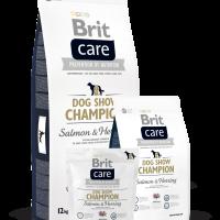 Brit Care Dog Show Champion – ХИПОАЛЕРГЕННА СУПЕРПРЕМИУМ КОМПЛЕКСНА ХРАНА-СЬОМГА И ХЕРИНГА -ЗА ВЪЗРАСТНИ КУЧЕТА ОТ ВСИЧКИ ПОРОДИ. -12 кг