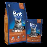 Brit Premium Cat Indoor – Деликатно пиле с пилешки дробчета за домашни котки -уринари контрол и контрол на космените топки -8 кг