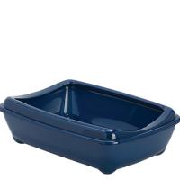 Заоблен съд за котешка тоалетна с борд 42 см в син цвят