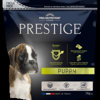 Prestige Puppy Пълноценна храна за подрастващи кучета от всички породи, както и за женски кучета от всички породи в края на бременността или в периода на кърмене 1 kg