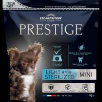 Prestige ADULT MINI LIGHT &/OR STERILIZED  Пълноценна храна за кучета от дребни породи със склонност към напълняване и/или кастрирани кучета – 1 kg