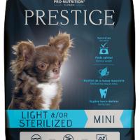 Prestige ADULT MINI LIGHT &/OR STERILIZED  Пълноценна храна за кучета от дребни породи със склонност към напълняване и/или кастрирани кучета  8 kg