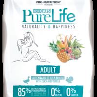Pure Life Cat ADULT С ПАТЕШКО И ПУЙКА 8 kg – без зърнени храни, 85% протеини от животински произход