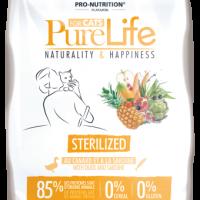 Pure Life Cat STERILIZED С ПАТЕШКО И САРДИНИ 8 kg – без зърнени храни, 85% протеини от животински произход
