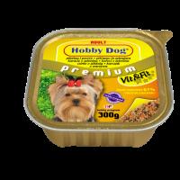 Hobby Dog Adult  – консерва за кучета с пилешко, 300 г, с високо съдържание на месо
