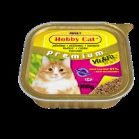 Hobby Cat Adult – консерва за котка с пилешко, 100 г, високо съдържание на месо