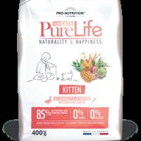 Pure Life Cat KITTEN С ПАТЕШКО И САРДИНИ 400 g – без зърнени храни, 85% протеини от животински произход
