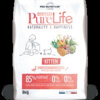 Pure Life Cat KITTEN С ПАТЕШКО И САРДИНИ 8kg – без зърнени храни, 85% протеини от животински произход
