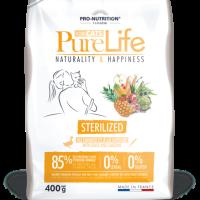 Pure Life Cat STERILIZED С ПАТЕШКО И САРДИНИ 400 g – без зърнени храни, 85% протеини от животински произход