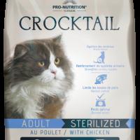 Crocktail ADULT STERILIZED with chicken Пълноценна храна за кастрирани котки С ПИЛЕШКО 400 g