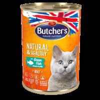 Butchers Natural & Healthy 400г – Хапки в желе за котки, с океанска риба