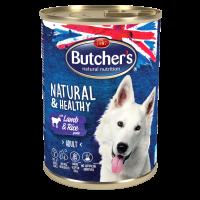 Butchers Natural & Healthy Pate 390г – Пастет за кучета с агнешко и ориз