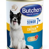 Butcher Functional Senior 7+ 390г – Пастет за възрастни кучета над 7 години, с пилешко, шунка и ориз