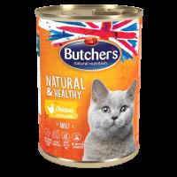 Butcher Natural & Healthy 400г – Хапки в желе за котки, с пилешко