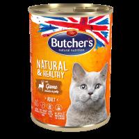 Butchers Natural & Healthy 400г – Хапки в желе за котки, с дивеч