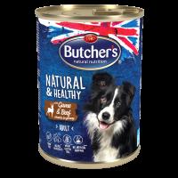 Butcher Natural & Healthy 400г – Хапки в сос Грейви за кучета, с дивеч и говеждо