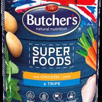 Butcher Superfoods 1200г – Пастет за кучета, с пилешко и шкембе