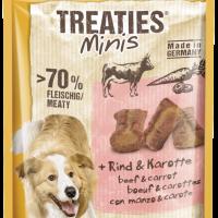 Лакомства за кучета – TREATIES MINIS ® 48g – Сочни мини хапки за кучета с говеждо и моркови