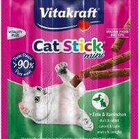 САЛАМЕНА ПРЪЧИЦА ЗА КОТКИ – мини 3 бр. с патешко и заешко месо Допълваща храна за котки. Високо месно съдържание – 95%.