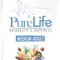 ПРОМОЦИЯ! 12+1 кг – Пълноценна храна за пораснали кучета – Pro-Nutrition Flatazor PureLife Medium Adult – без зърнени храни, 85% протеини от животински произход