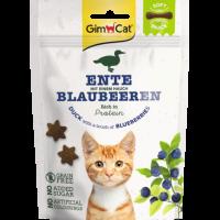 GimCat Soft Snack – Меки месни бисквити за котка с патица и боровинки, 60 г