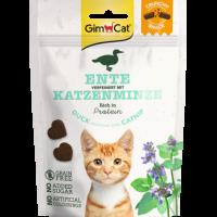 GimCat Crunchy Snack – Хрупкави лакомства за котки с патешко и котешка трева, наричана още коча трева или мачо биле, 50 г