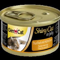 Консерви за котки – риба тон и пиле в желе 70г – GimCat Shiny Cat