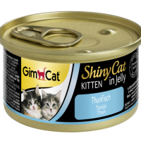 Консерви за подрастващи котки- GimCat Shiny Cat Kitten- – риба тон в желе 70 г