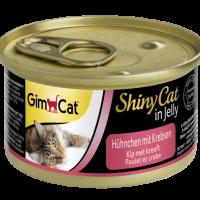 Консерви за котки – пиле и раци в желе 70г – GimCat Shiny Cat