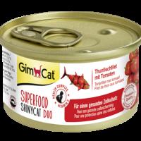 Консерви за котки – филе от риба тон с домати 70 г – GimCat Superfood ShinyCat Duo
